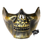 Gold Halloween Masquerade Horror Half Face Skeleton Warrior Mask Fancy Dress