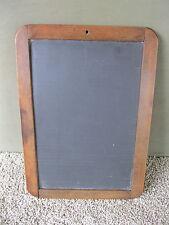 """Antique Slate Vtg Primitive 12"""" x 8"""" School Chalkboard Wood Frame, Initials"""
