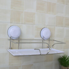 Wall Mounted Bathroom Stainless Steel Shower Shelf Shampoo Storage Rack Silver