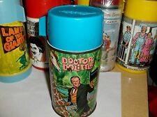 Doctor Dolittle`1969`Aladdin Industries,Metal Lunch Box-Thermos- Free To US