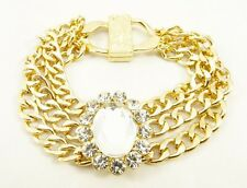Dazzling New Crystal Gold Tone Multi Strand Bracelet from JTV #B52157GC