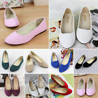 Womens Casual Ballerina Ballet Dolly Pumps Ladies Flat Low Heel Loafers Shoes