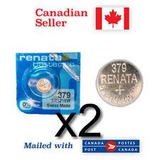 2 x Brand NEW 379 Renata Silver Oxide 1.55V Batteries - SR521SW, 618, SR-63