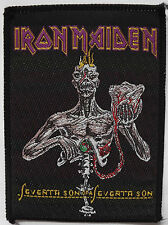 IRON MAIDEN Seventh Son Of A 7th Son Vintage 1980`s Woven Sew On Patch Eddie