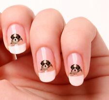 20x Stickers décalcomanies pour ongles - Forme de chien Shih Tzu #657