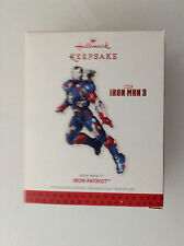 IRON MAN 3 IRON PATRIOT ORNAMENT BY HALLMARK KEEPSAKE NEW MIB(AVENGERS MARVEL 12