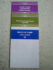 User's Manual-bedienungsanl. Multi I/O CARD, 10 Mhz Scheda Madre, Adattatore Printer