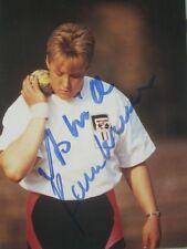 Autogramm Astrid Kumbernuss Kugelstoßen Olympiasiegerin 96 kleines Bild aus DDR