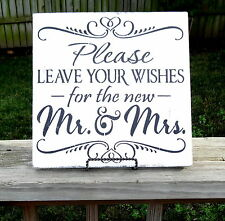 Barn Wedding Mr. and Mrs. Please Sign Leave Wishes Guest Book Table Decoration