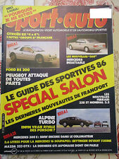 SPORT AUTO: n°285: 10/85: FORD RS 200 - ALPINE TURBO - MERCEDES 560 - 323 GTX
