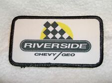 RIVERSIDE CHEVY GEO  USED COMPANY NAME PATCH TAG
