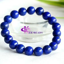 Discount Wholesale Natural Genuine Blue Lapis Lazuli Bracelet Round 10mm Beads