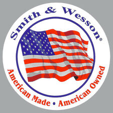 Official Smith & Wesson American Made Decal S&W Flag Bumper Sticker Pro Gun NRA