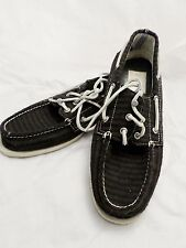 BAND OF OUTSIDERS Sperry Top-Sider gray blue stripe wool boat shoes 11M