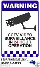 STICKER SECURITY WARNING SELFADHESIVE VINYL PROTECT INFRARED CAMERA SURVEILLANCE