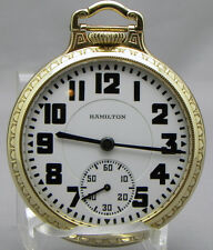 A 16 size Hamilton 950, With 23 Jewels, ELVINAR and a Beautiful 10Kt GF Case!!