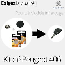 Kit clé infra rouge Peugeot 406: Bouton + switch + 2 piles Duracell KIT25