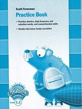 SCOTT FORESMAN READING STREET STUDENT PRACTICE BOOK GRADE 1.1 - FREE SHIPPING