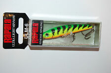 "rapala ultra light minnow ulm-6 ulm06 ft firetiger 2 1/2"" 1/8 oz"