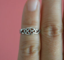 925 Sterling Silver Adjustable Summer Love Knot Celtic Toe Ring Beach Jewelry