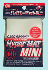 60 KMC MINI HYPER MAT CLEAR Small Card Barrier NEW Matte Deck Protector Sleeves
