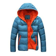 Mens Winter Warm Slim Fit Thick Bubble Coat Casual Jacket Parka Outerwear Hooded