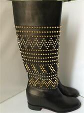 Christian Louboutin Rom Chic Flat studded knee high boot shoe 42 12 NEW $2295