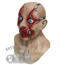 Halloween Tortured Victim with Chest Horror Serial Killer Latex Prop Party Mask