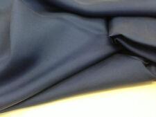 coupon de tissu pure soie  twill  de soie  uni  bleu    3 m  couture