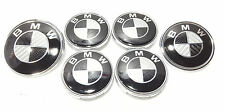 Set of 4 Wheel Caps and Front & Rear Badge BMW 1 3 5 6 7 X5 X6 E46 E39 F10 F11