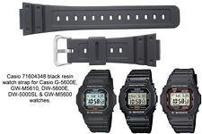 Cinturino Casio G-Shock DW-5600- e G-5600- in resina nero