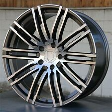 "21"" WHEELS RIMS FOR PORSCHE MACAN S TURBO 21X9 AND 21X10 5X112 MACHINED GREY"