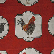 NC05 Roosters Hens  Chickens French Farm Country Kitsch Cotton Quilt Fabric