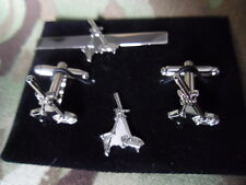 81mm Mortar Cufflink / Tie slide/ lapel pin set (Silv) OML, Infantry Support Coy