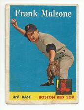 FRANK MALZONE 1958 Topps Baseball card #260 Boston Red Sox VG
