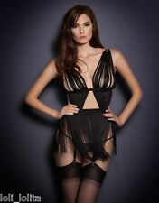AGENT PROVOCATEUR RARE BLACK TIGRE SAUCY NAUGHTY PLAYSUIT SZ 4 LARGE UK12-14 NWT