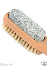 WOOD HANDLE PUMICE STONE { !! bristle brush !! } FOOT - HAND CARE PEDICURE