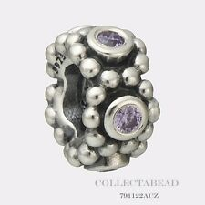 Authentic Pandora Sterling Silver Her Majesty Purple Spacer 791122ACZ