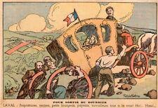 53 LAVAL POUR SORTIR DU BOURBIER TOUS A LA ROUE IMAGE 1935 OLD PRINT