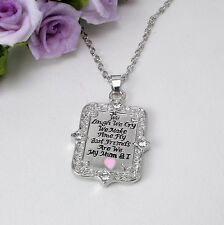N6 Silver Best Mum Inscribed Pendant Necklace Giftboxed