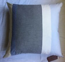 "New MISSONI HOME 24x24"" Striped Decorative PILLOW /Cushion Gray/Yellow/Blue/Pink"