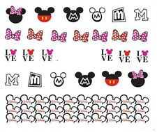 Nail Art Decals Transfers Stickers Mickey & Minnie Mouse (DA381)