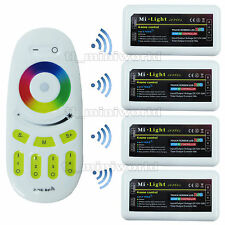 Touch Remote + 4x RGB led Controller - 2.4G RF Wireless Mi.Light 4-Zone Dimmable
