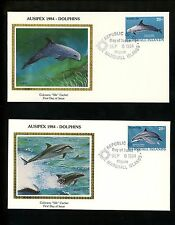 Postal History US Marshall Islands FDC #54-57 SET OF 4 Dolphins Colorano 1984