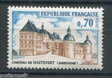 FRANCE 1969, timbre 1596, CHATEAU DE HAUTEFORT, neuf**