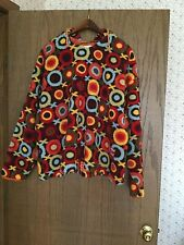 Women's Oilily Geometric Print Fleece Hoodie Size XL