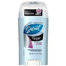 Secret Outlast Solid Antiperspirant - Deodorant, Protecting Powder 2.60 oz 4pk