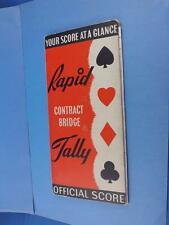 RAPID TALLY FOR CONTRACT BRIDGE OFFICIAL SCORE POINTS SLIDE CARD GAMES TABLE