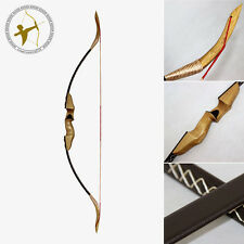 New 45LBS@28'' Archery Hunting Brown Leather Traditional Takedown Recurve Bow