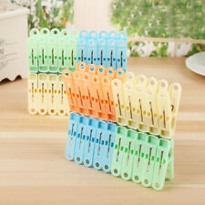 20Pcs Useful Heavy Duty Plastic Laundry Clothes Pins Color Hanging Pegs Clips